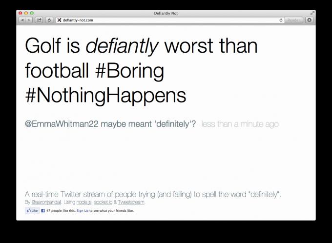 defiantly